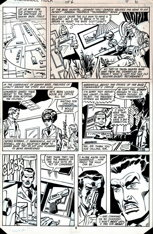 Incredible Hulk #256 p 5 (DOC SAMSON & THUNDERBOLT ROSS!) 1980