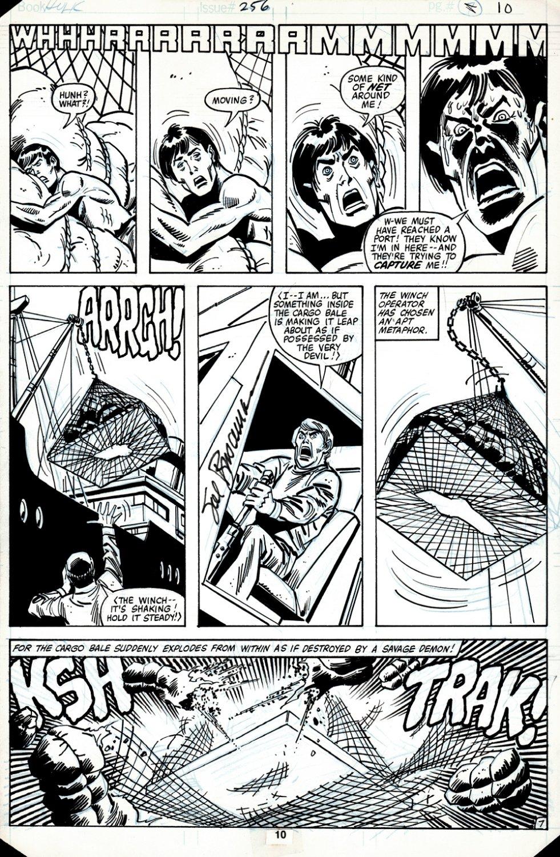 Incredible Hulk #256 p 7 (BRUCE BANNER CHANGING INTO THE HULK!) 1980