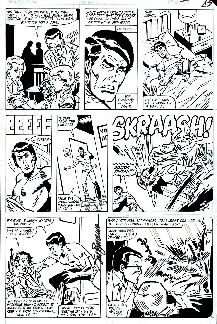 Incredible Hulk #262 p 16 (BRUCE BANNER MEETS THE BOY WHO IS A DIRE WRAITH MONSTER!) 1981