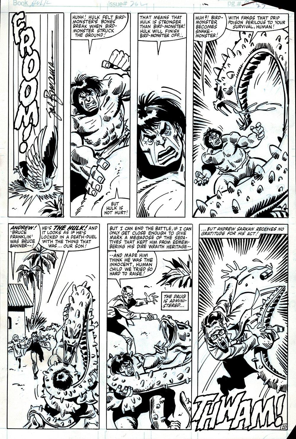 Incredible Hulk #262 p 20 (HULK'S VERY FIRST BATTLE WITH 'ROM' DIRE WRAITH MONSTER: KATTAN-TU!) 1981