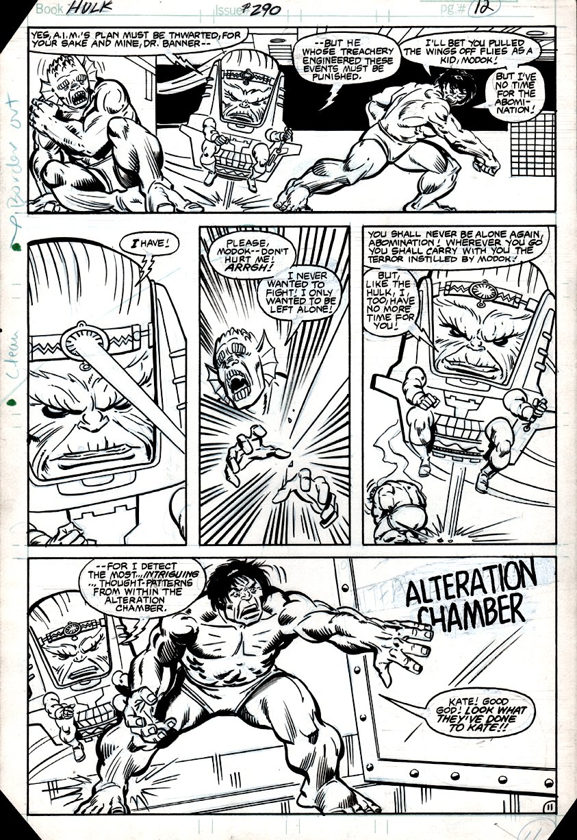 Incredible Hulk #290 p 11 (HULK, ABOMINATION, MODOK!) 1983