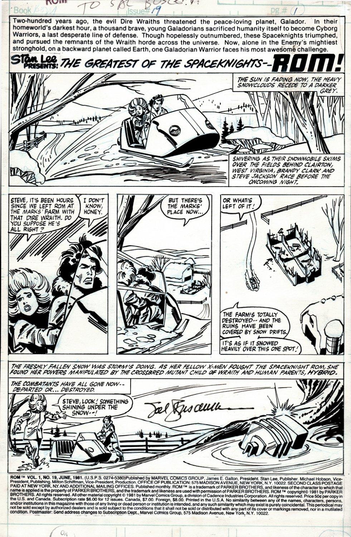 ROM #19 p 1 (Brandy Clark & Steve Jackson find ROM's Neutralizer!) 1981