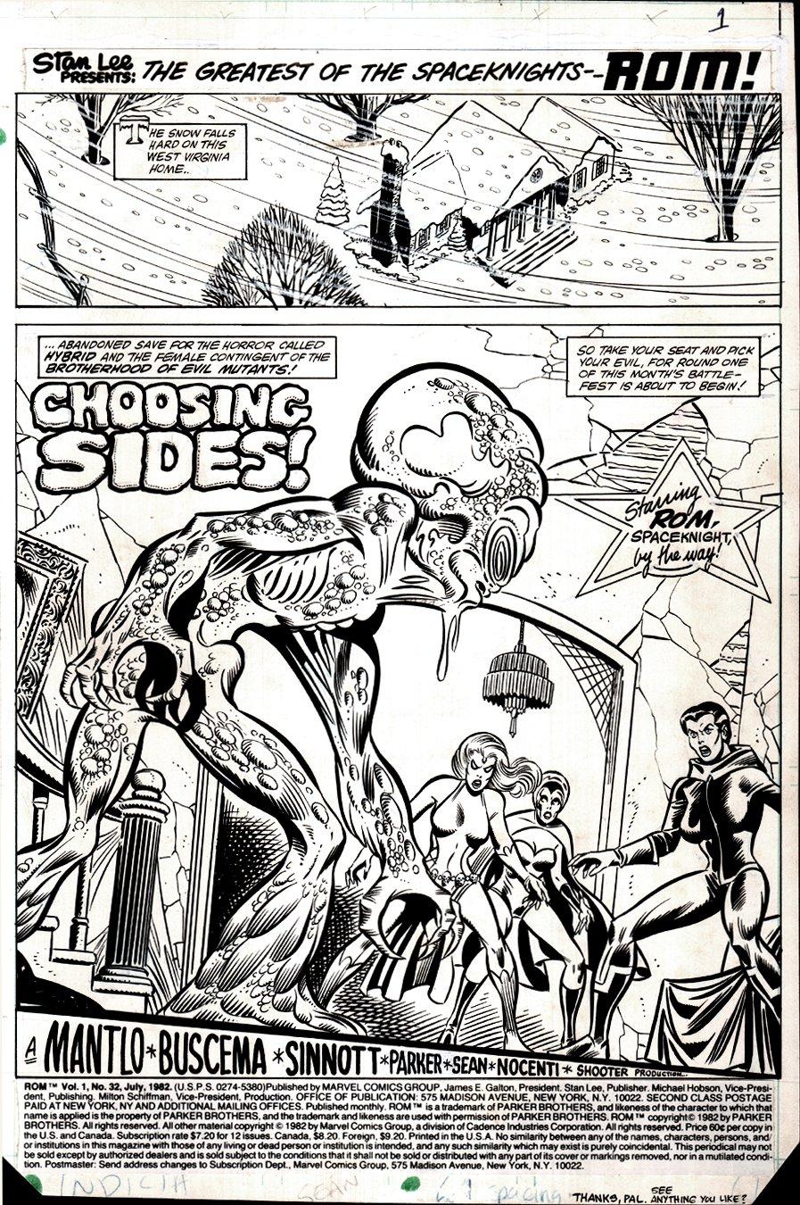 ROM #32 p 1 SPLASH ('EARLY' ROGUE, MYSTIQUE, & DESTINY BATTLE HYBRID!) 1982