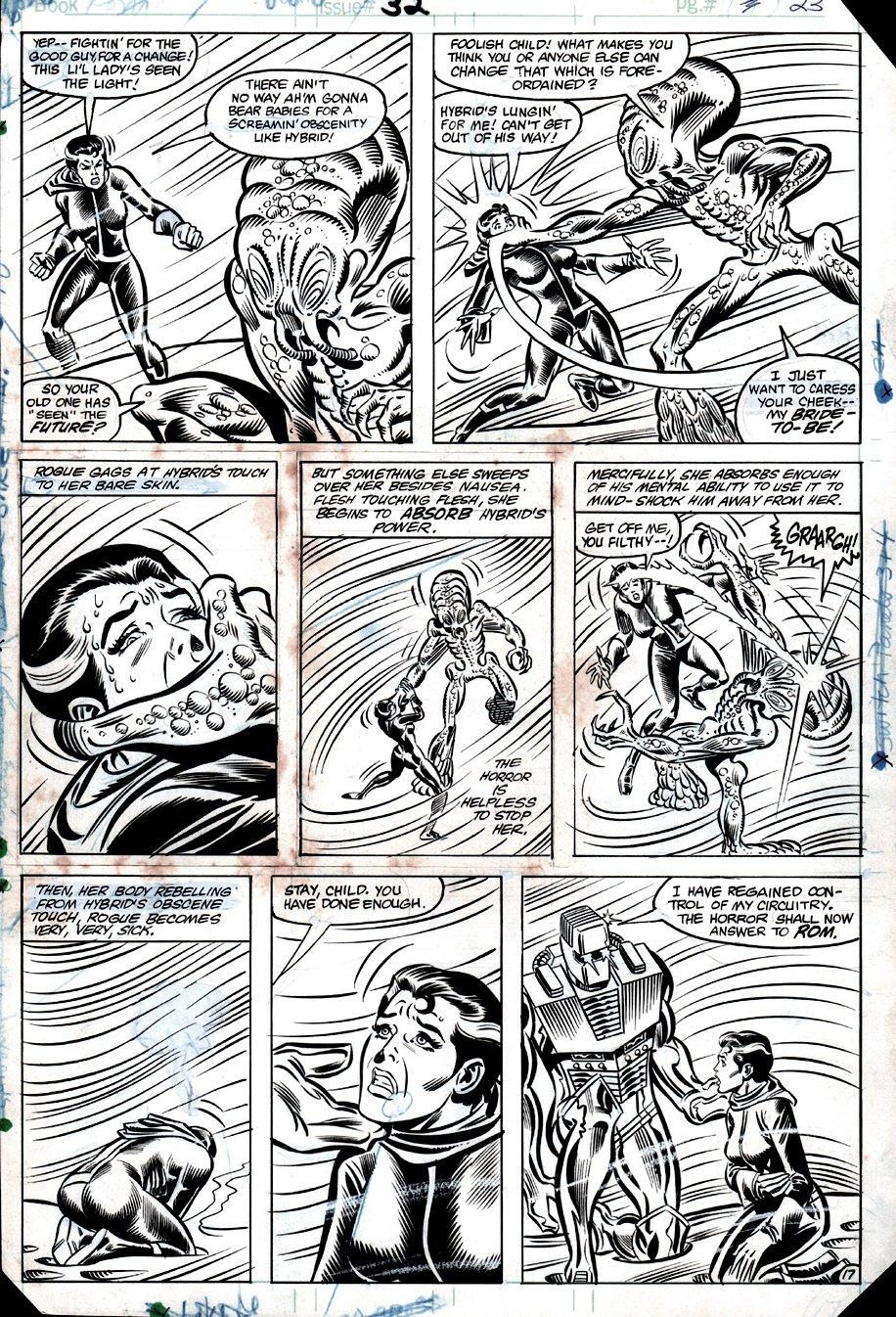 ROM #32 p 17 (ROM & 'EARLY' ROGUE BATTLE HYBRID!) 1982
