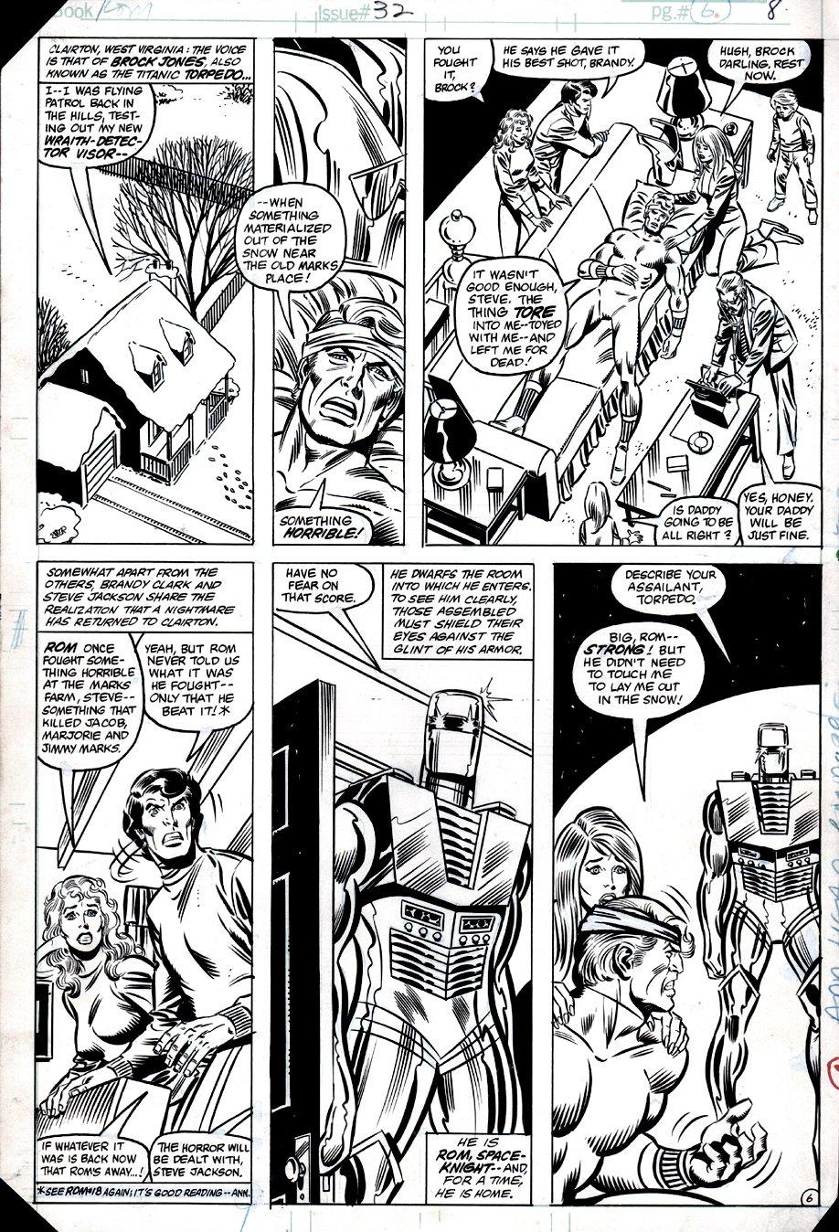 ROM #32 p 6 (ROM, Torpedo, Brandy Clark, Steve Jackson!) 1982