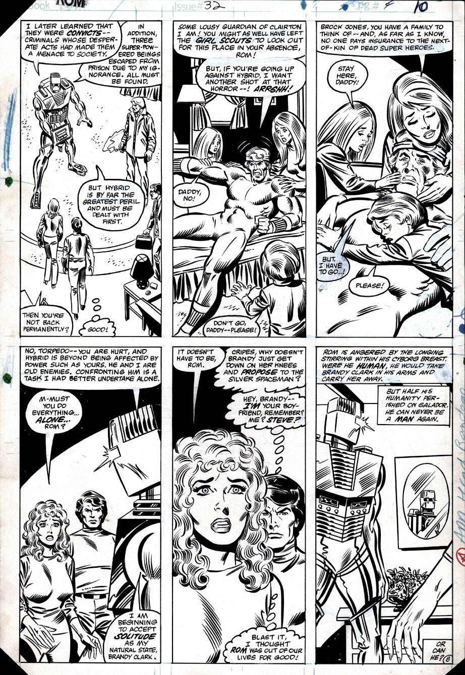 ROM #32 p 8 (ROM, Torpedo, Brandy Clark, Steve Jackson!) 1982