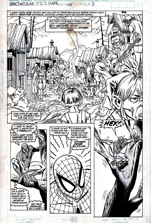 Spectacular Spider-Man #156 p 3 (Half Splash, Spidey in 3 of 4 Panels!) 1989