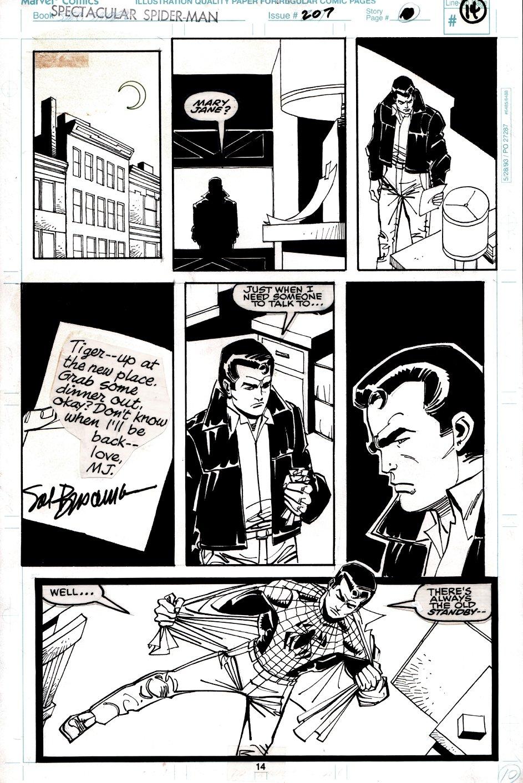Spectacular Spider-Man #207 p 14 (Spider-Man, Peter Parker, & Ben Reilly!) 1993