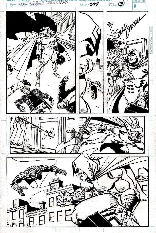 Spectacular Spider-Man #207 p 13 (Spider-Man Battles The Shroud!) 1993