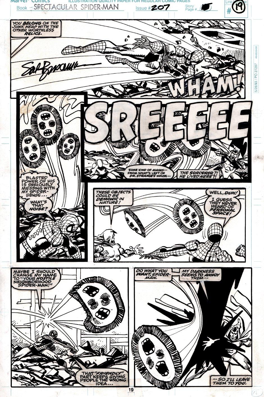 Spectacular Spider-Man #207 p 19 (Spider-Man & The Shroud Battle THE SCREAMING CRIMSON!) 1993