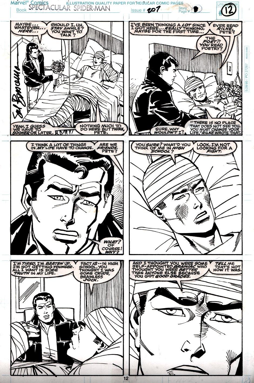 Spectacular Spider-Man #207 p 12 (Peter Parker & Ben Reilly!) 1993