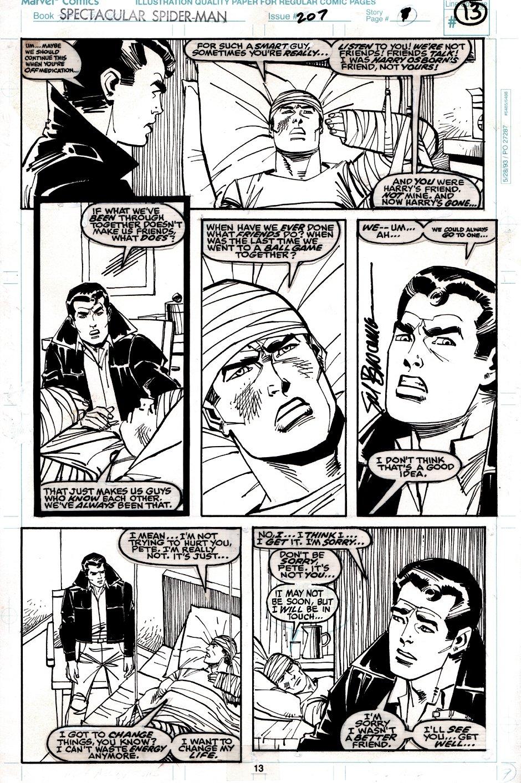 Spectacular Spider-Man #207 p 13 (Peter Parker & Ben Reilly!) 1993