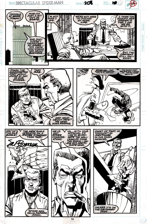 Spectacular Spider-Man #208 p14 (JJJ, ROBBY, & SPIDER-MAN!) 1993