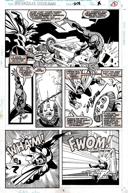 Spectacular Spider-Man #208 p 2 (SPIDER-MAN & SHROUD BATTLE CREATURES!) 1993