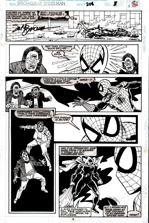 Spectacular Spider-Man #208 p 6 (SPIDER-MAN & SHROUD BATTLE CREATURES!) 1993