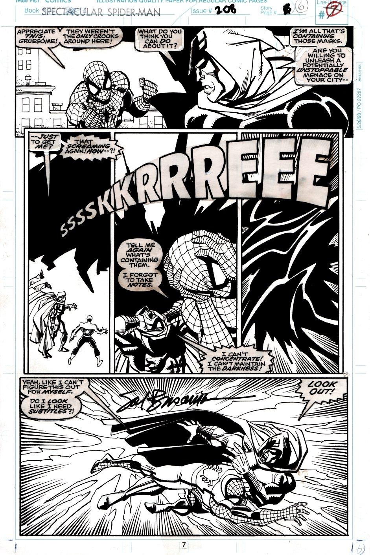 Spectacular Spider-Man #208 p 7 (SPIDER-MAN & SHROUD BATTLE CREATURES!) 1993