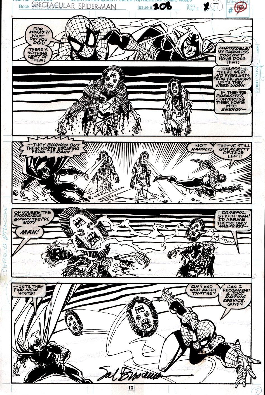 Spectacular Spider-Man #208 p 10 (SPIDER-MAN & SHROUD BATTLE CREATURES!) 1993