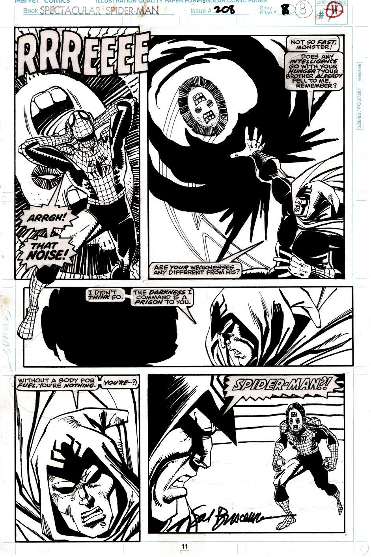 Spectacular Spider-Man #208 p 11 (SPIDER-MAN & SHROUD BATTLE CREATURES!) 1993