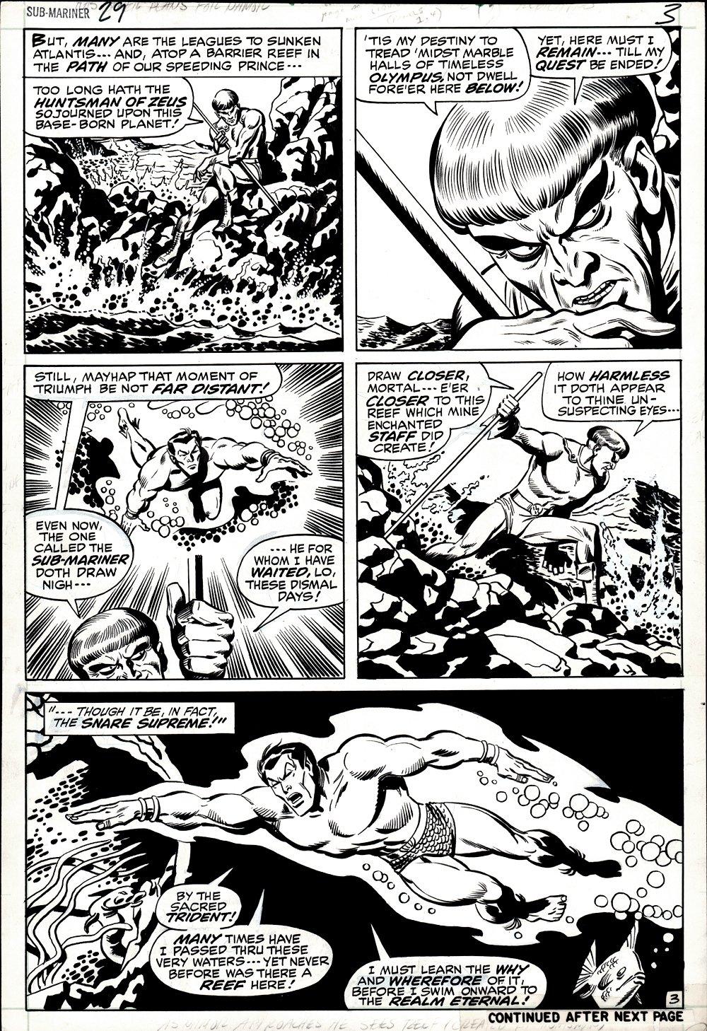 Sub-Mariner #29 p 3 (SUB-MARINER & THE HUNTSMAN!) 1970
