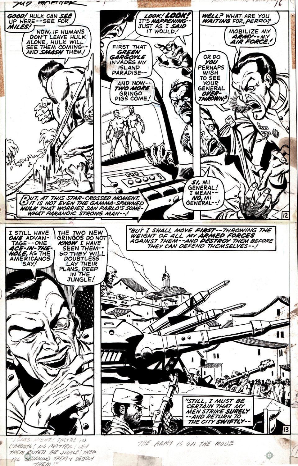 Sub-Mariner #34 p 12-13 (FIRST DEFENDERS!) 1970