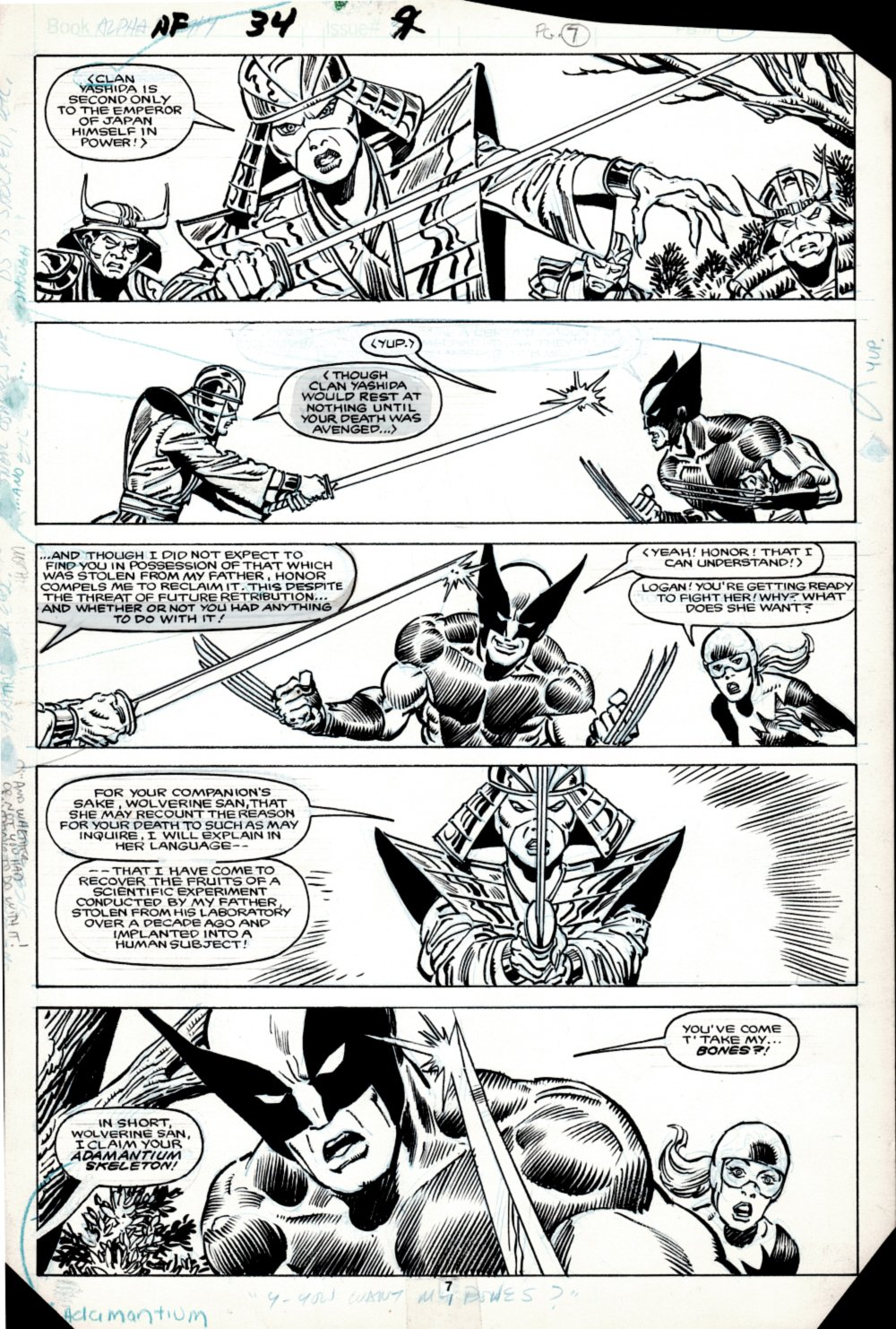 Alpha Flight #34 p 7 (SOLD LIVE ON 'DUELING DEALERS OF COMIC ART' EPISODE #20 PODCAST ON 6-2-2021 (RE-WATCH THIS FUNNY ART SELLING SHOW HERE)