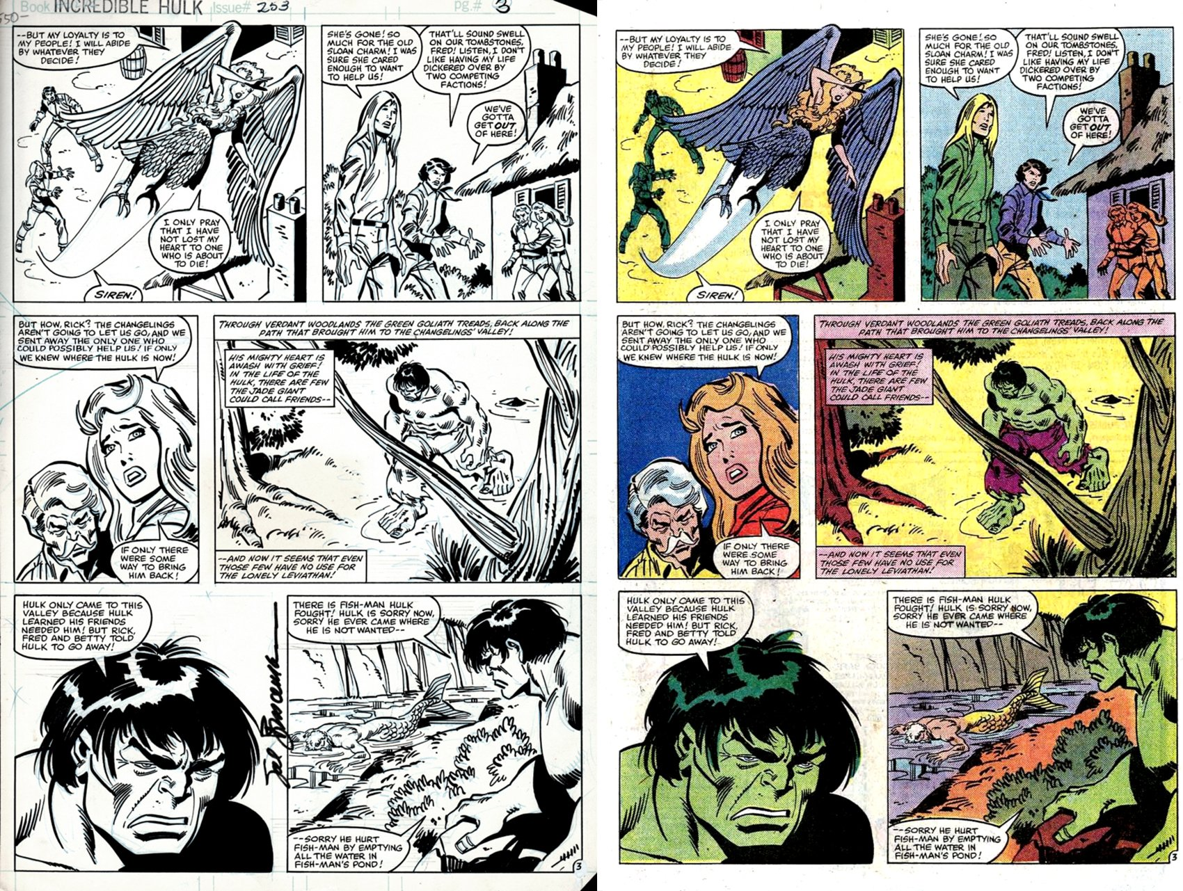 Incredible Hulk #253 p 3 (HULK, THE CHANGELINGS, RICK JONES!) 1980