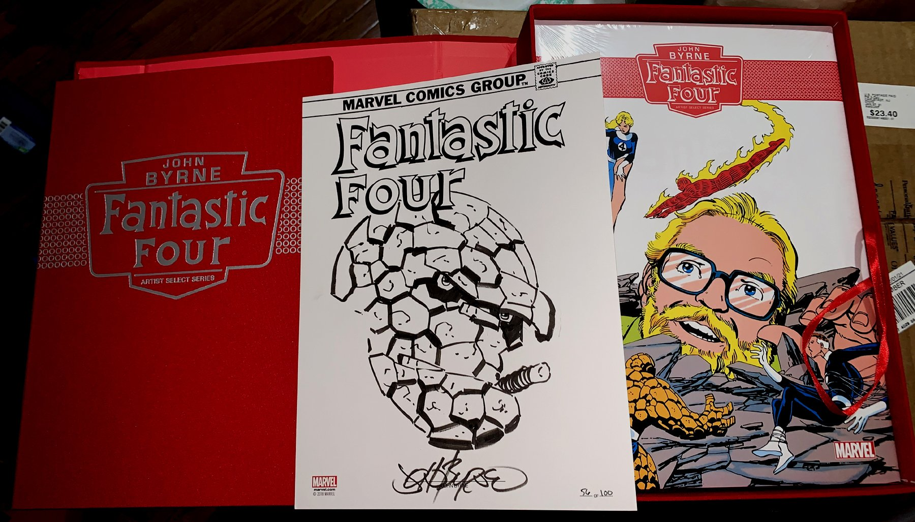 John Byrne Fantastic Four 'Artist Select Series' Omnibus & THING Drawing #56 of 100 Included!