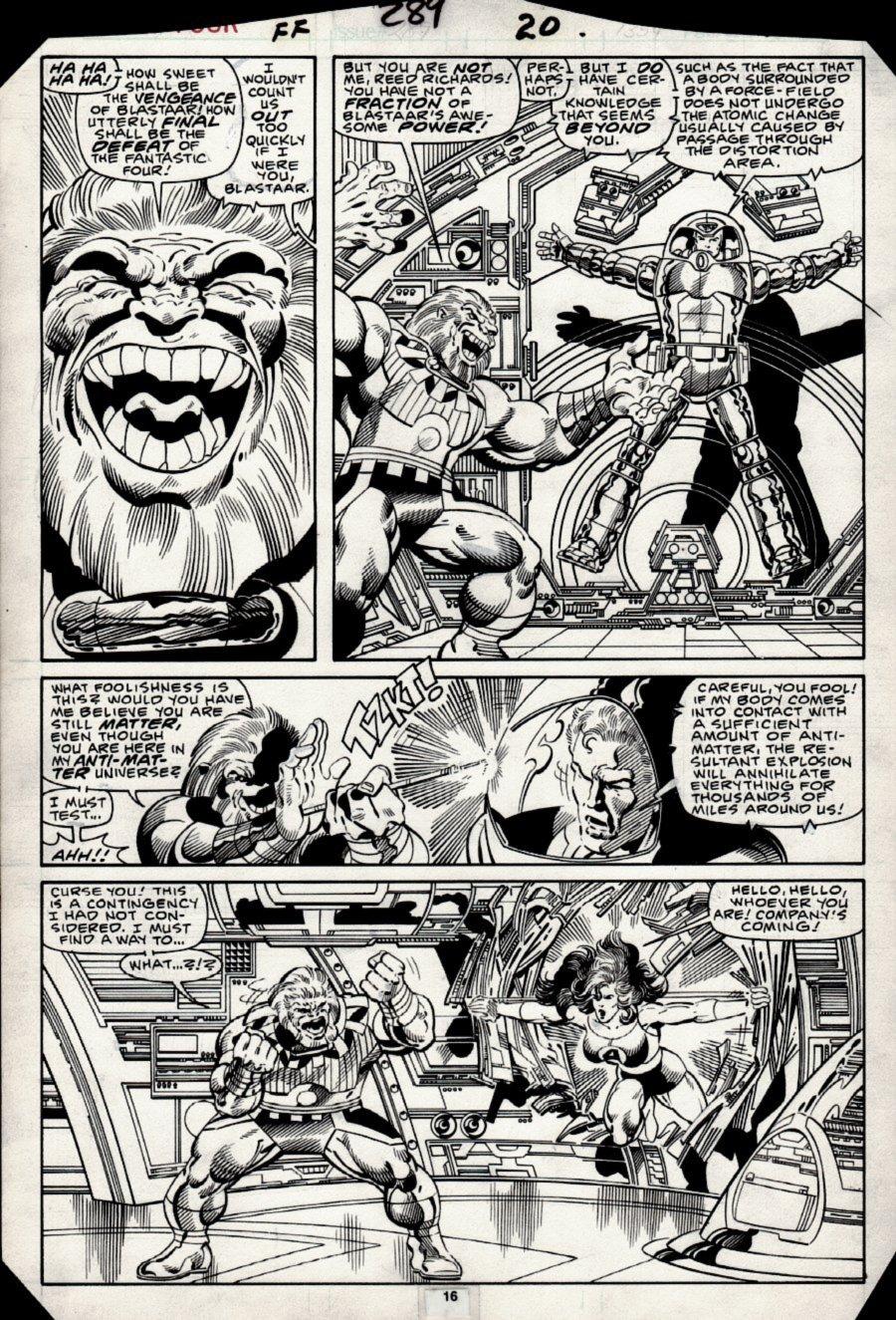 Fantastic Four #289 p 16 (Blastaar Vs Mr Fantastic & She-Hulk!) 1985