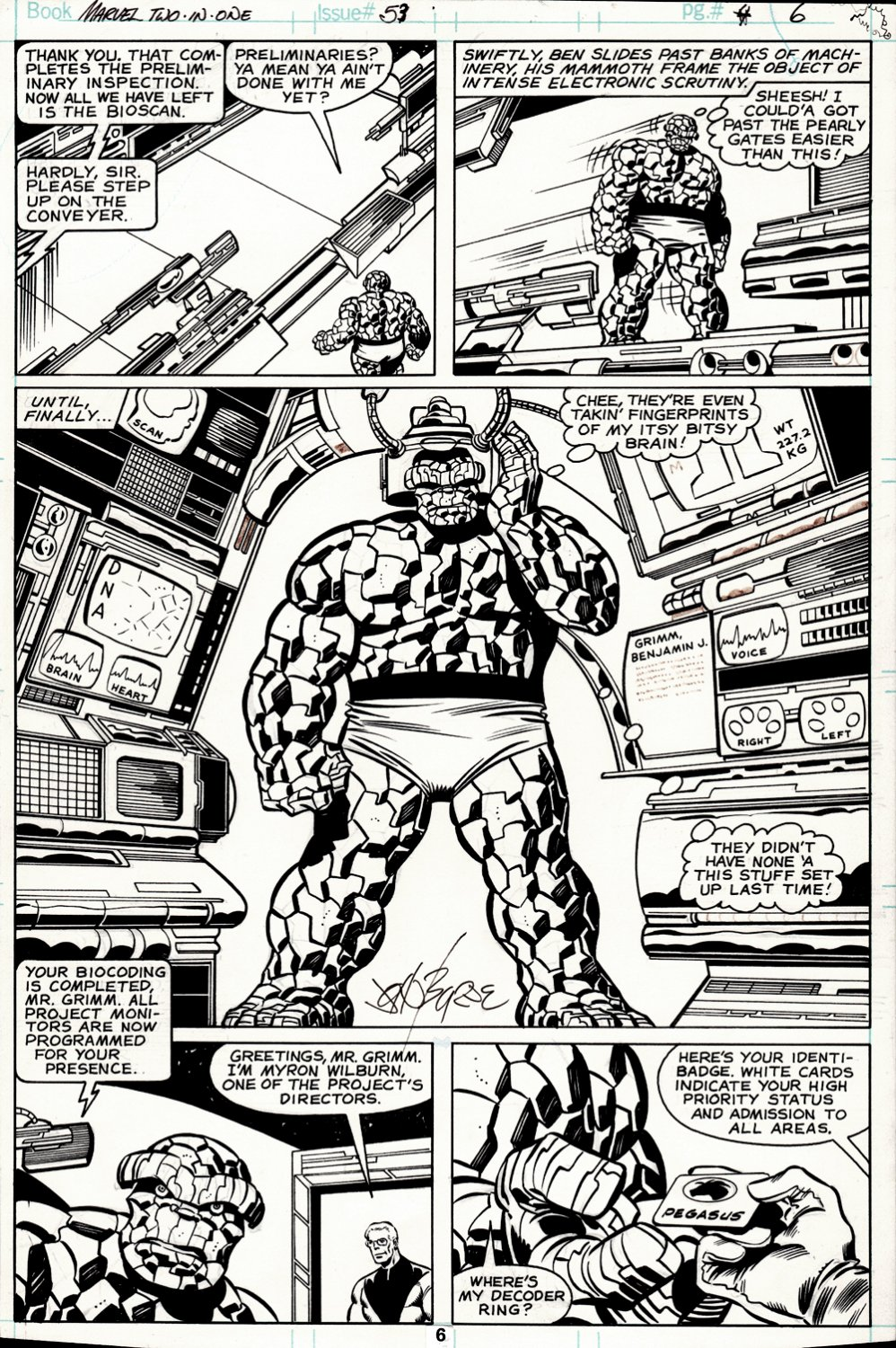 Marvel Two-in-One #53 p 6 SEMI-SPLASH (THE THING IN EVERY PANEL!) 1979