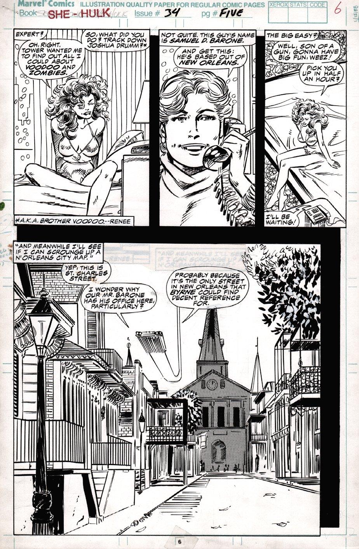 Sensational She-Hulk #34 p 6 (1991)