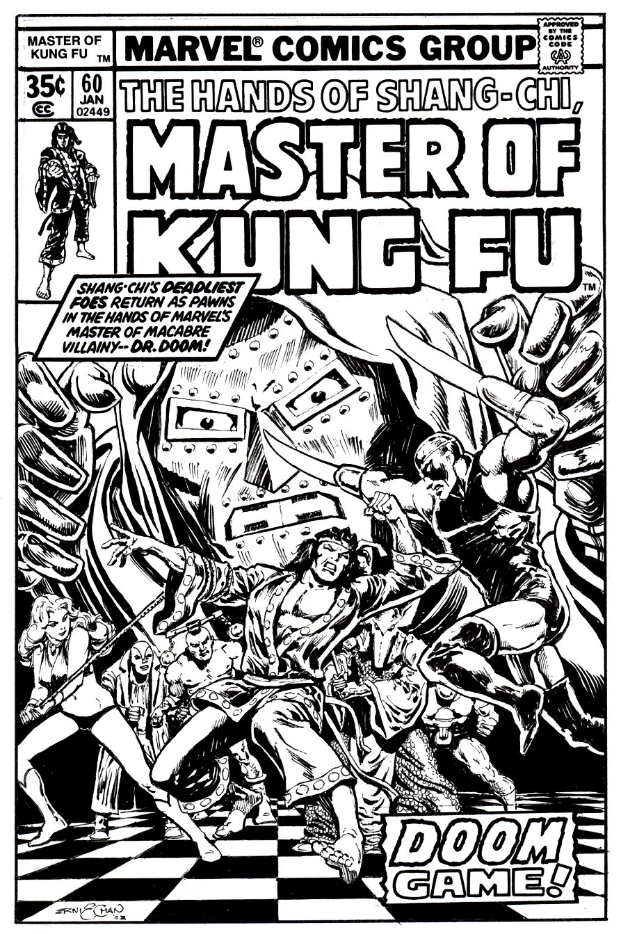 Master of Kung Fu #60 Cover recreation (2002)