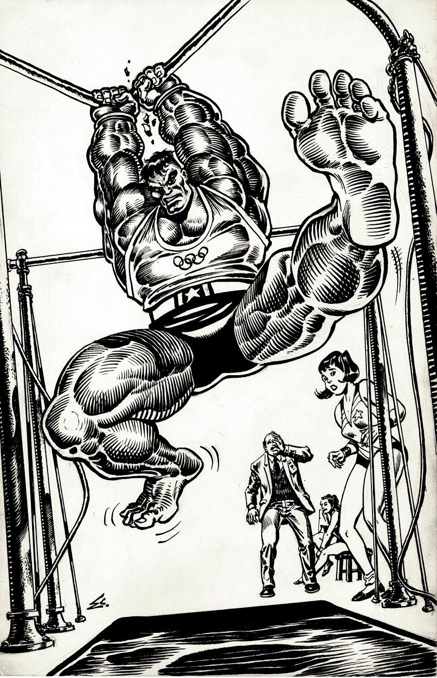 Incredible Hulk Olympics Pinup (1980s)