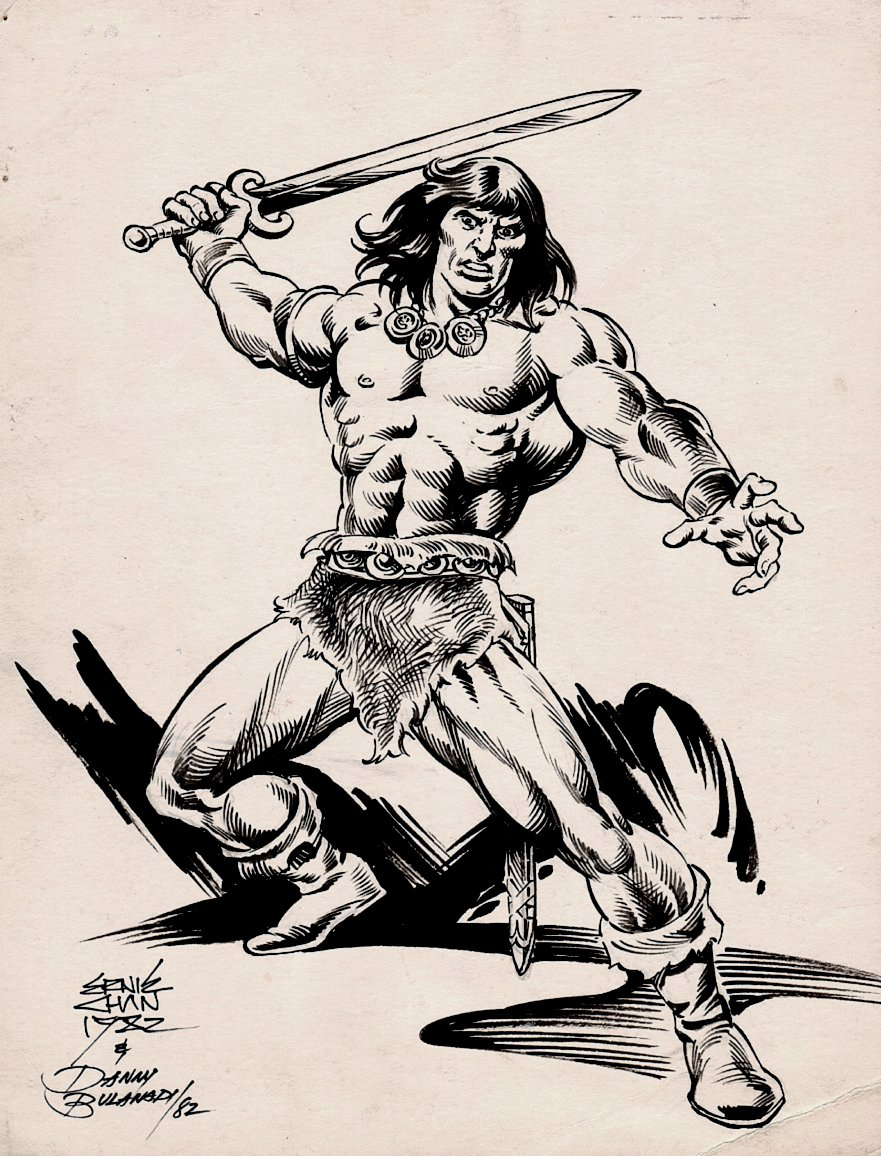 Conan With Sword Pinup (1982)