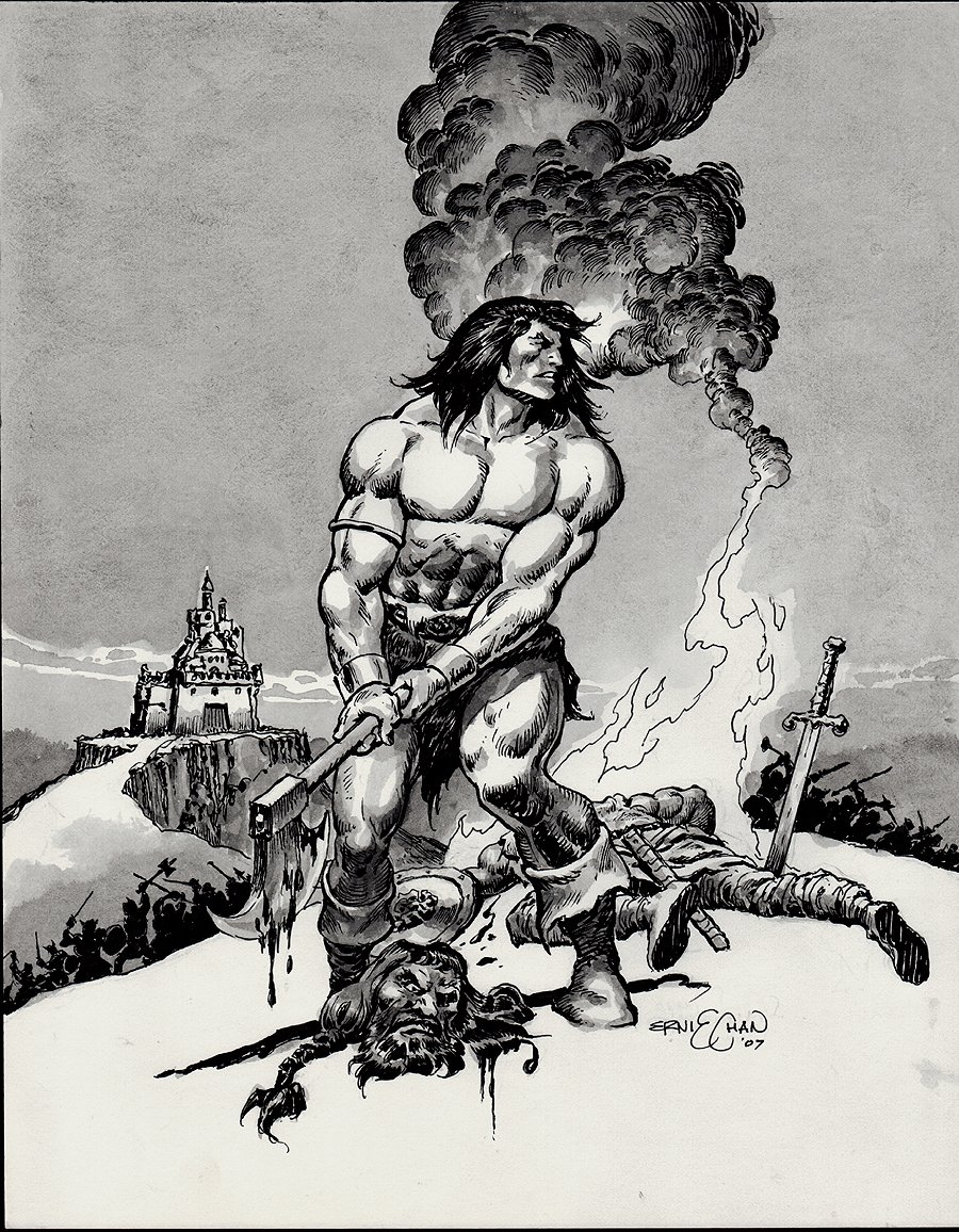 Conan / Wash-Tone Beheading Battle Pinup (2007)