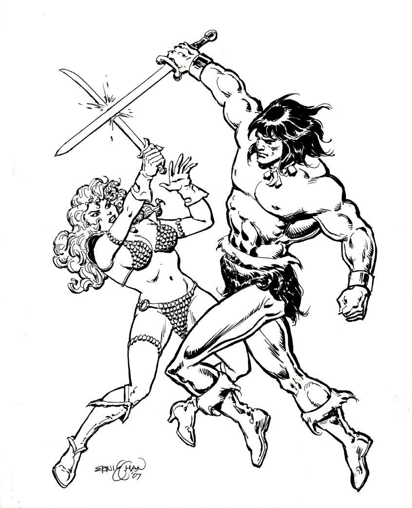 Conan / Red Sonja Battle Pinup (2007)