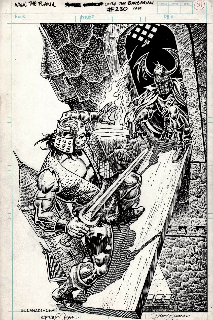 Conan #230 SPLASH (AWESOME CONAN BATTLE SPLASH!) 1989