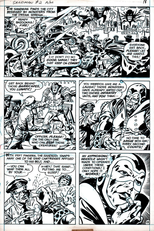 Sandman #2 p 12 (SANDMAN IN EVERY PANEL!) 1975