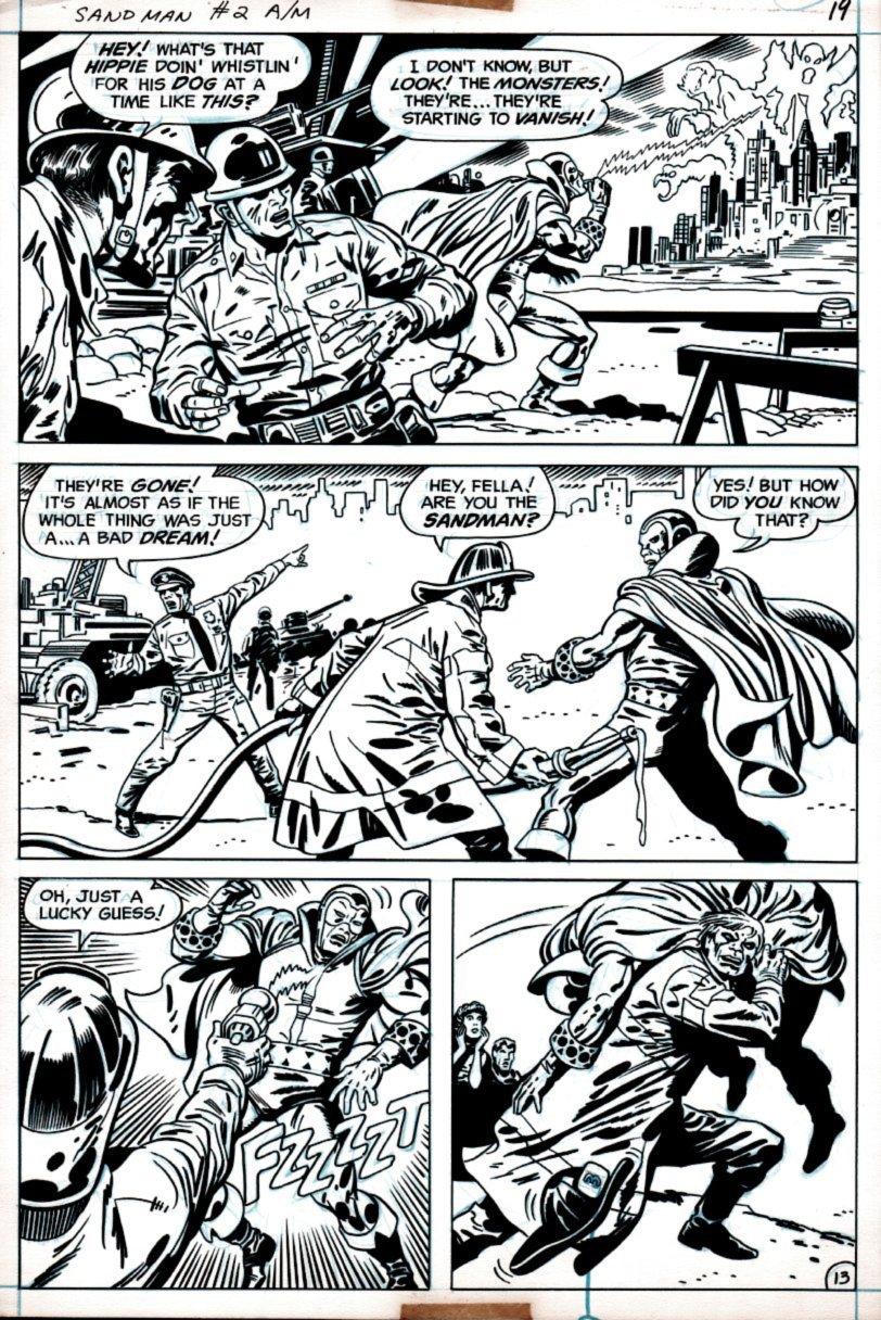 Sandman #2 p 13 (SANDMAN BATTLE IN EVERY PANEL!) 1975