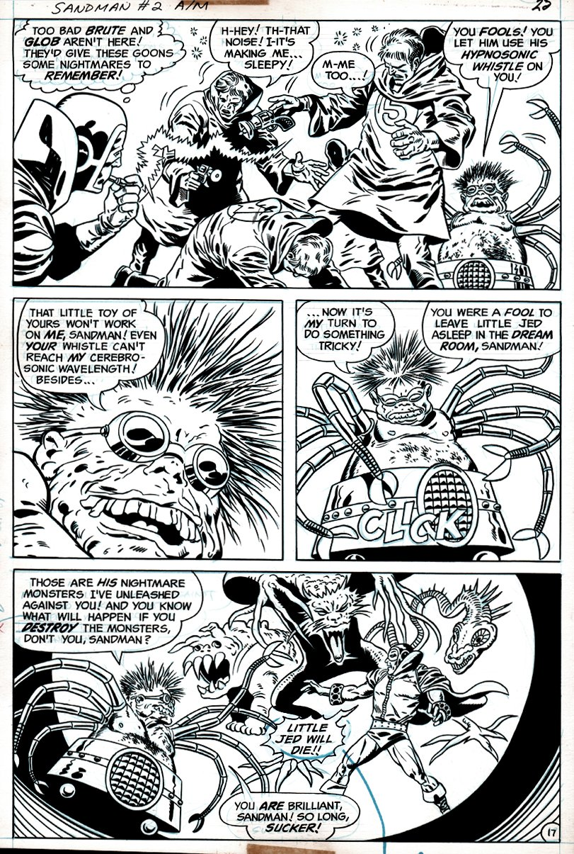 Sandman #2 p 17 (SANDMAN BATTLES DR. SPIDER & HIS MONSTERS THROUGHOUT!) 1975