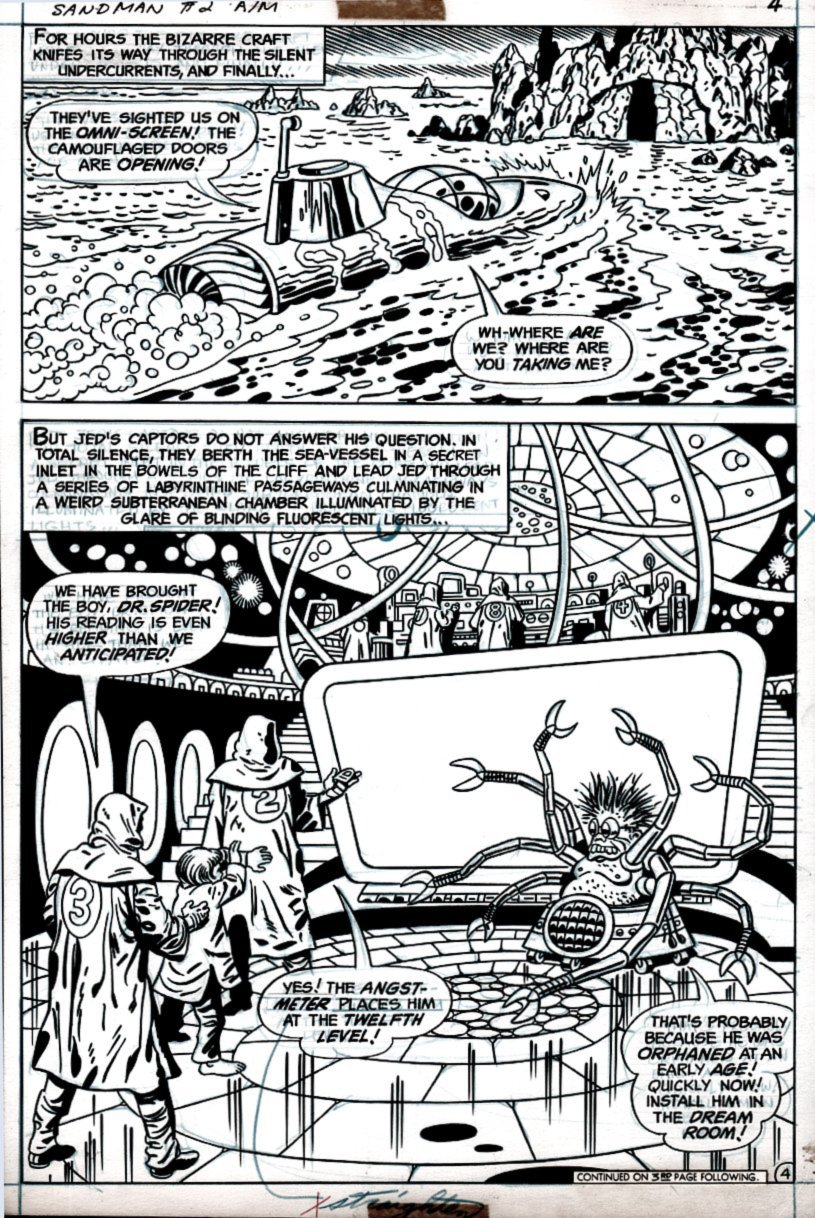Sandman #2 p 4 SPLASH (1975)
