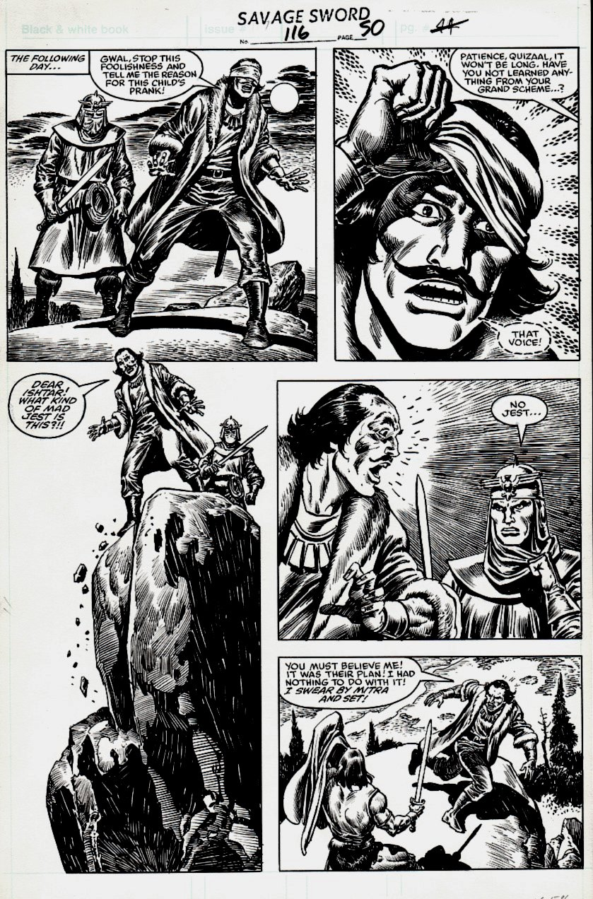 Savage Sword of Conan #116 p 50 (Conan Gets Ready For Battle!) 1985