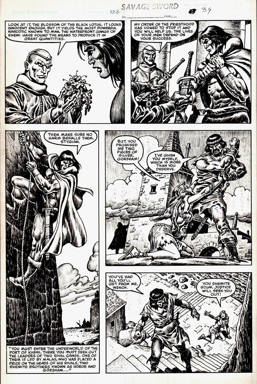 Savage Sword of Conan #122 p 39 (1985)