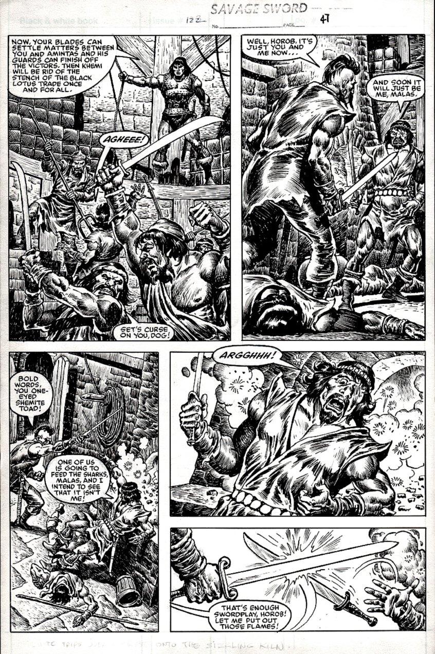 Savage Sword of Conan #122 p 47 (1985)