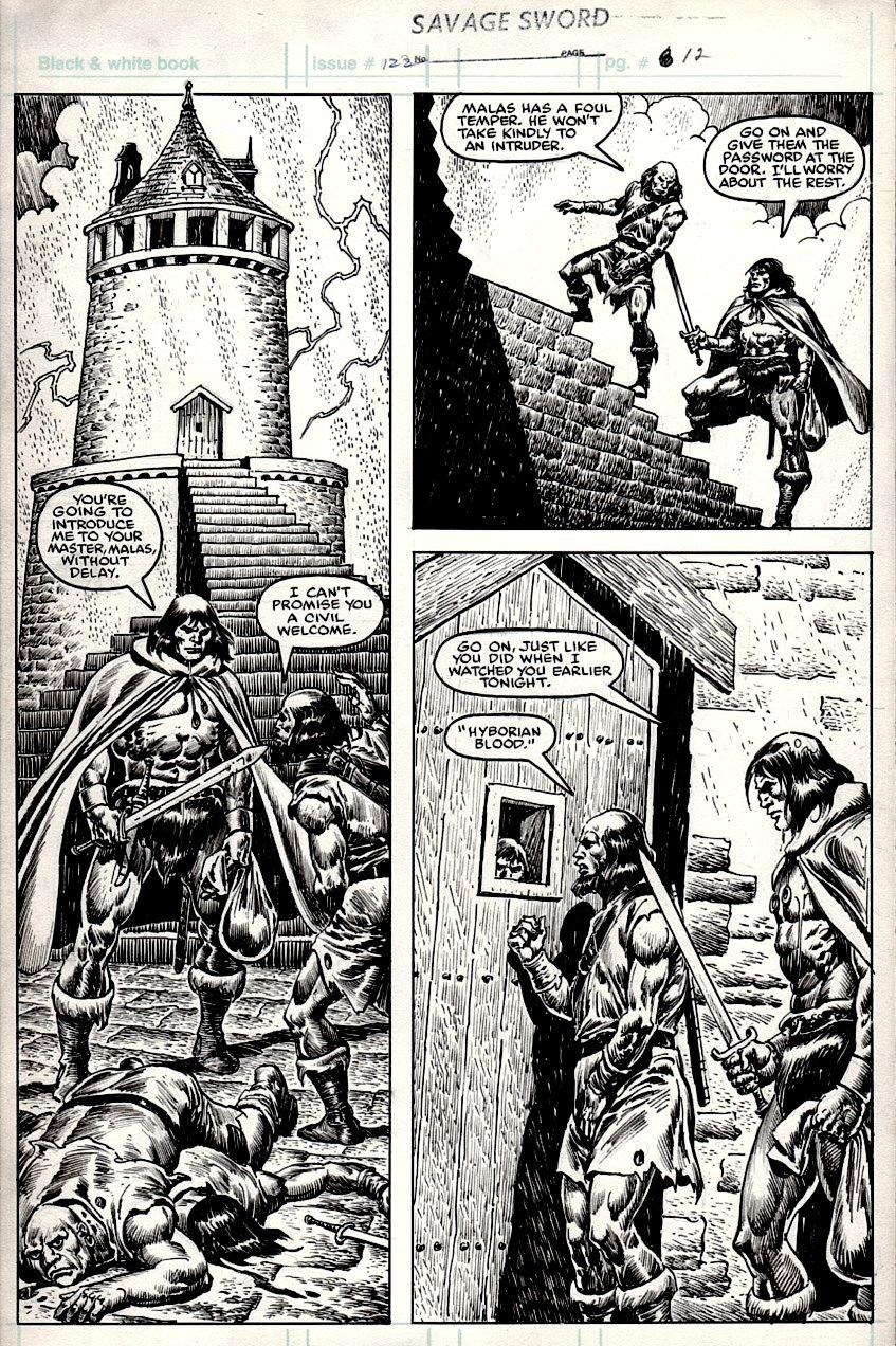 Savage Sword of Conan #122 p 12 (Conan In EVERY PANEL!) 1985
