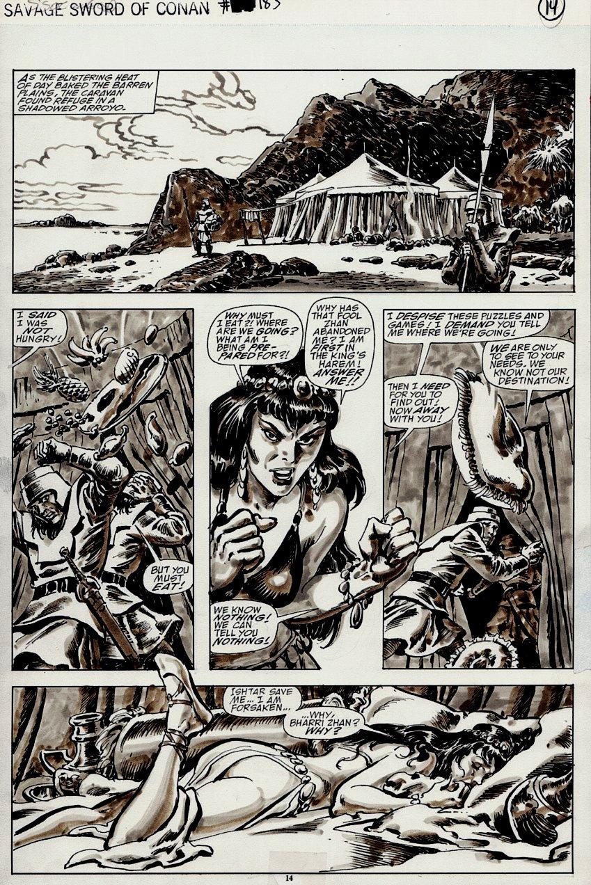 Savage Sword of Conan #183 p 14 (SEXY BABE!) 1990
