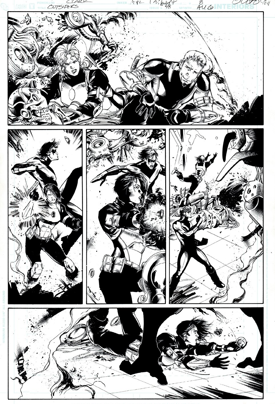 Outsiders #48 p 8 (TEAM ACTION PAGE!) 2007