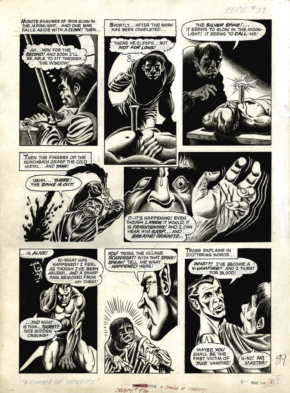 Creepy #42 p 4 (VERY EARLY DAVE COCKRUM ART!) Large Art -1971