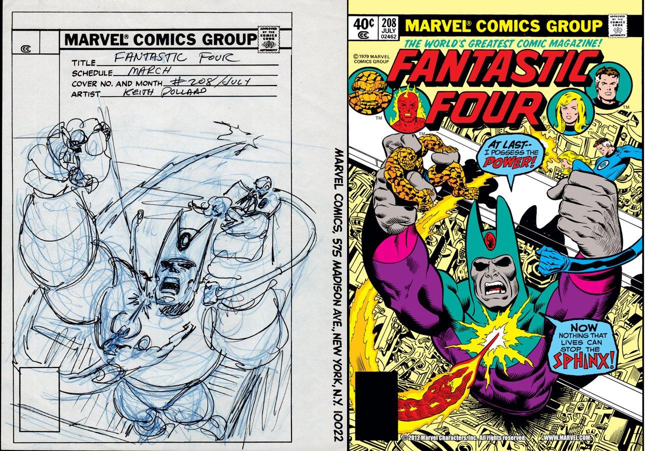 Fantastic Four #208 Cover Prelim (1979)