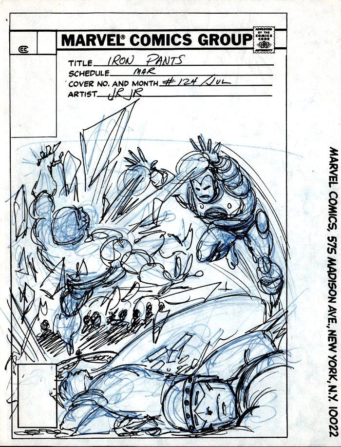 Iron Man #124 Cover Prelim (1979)