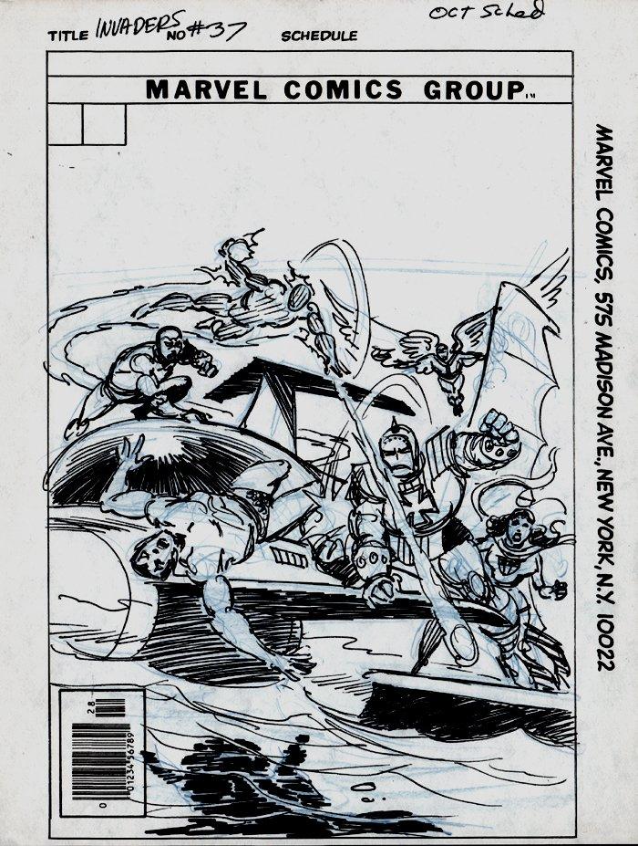 Invaders #37 Cover Prelim (1978)